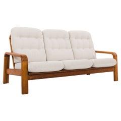 1960s Danish Teak Upholstered Sofa