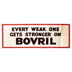 Original Vintage Poster Every Weak One Gets Stronger On Bovril Word Play Health