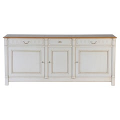 3 Doors Charm French Buffet in Solid Cherry Wood