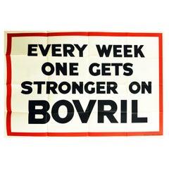 Original Vintage Poster Every Week One Gets Stronger On Bovril Hot Drink Food Ad