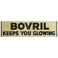 Original Vintage Poster Bovril Keeps You Glowing Beef Hot Drink Food Ad Campaign