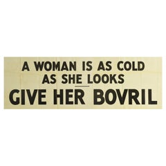 Original Vintage Poster A Woman Is As Cold As She Looks Give Her Bovril Hot Food