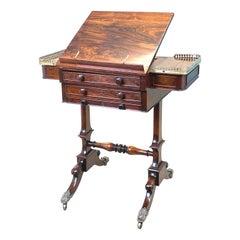 English Regency Rosewood Games Table