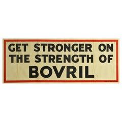 Original Vintage Poster Get Stronger On The Strength Of Bovril Ad Hot Drink Food