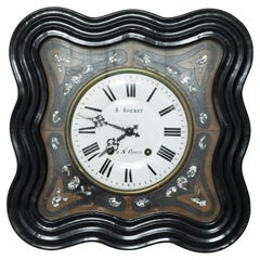 Antique French Wooden Clock