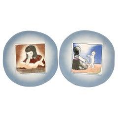 Heljä Liukko-Sundström For Arabia Limited Edition Mother & Child Wall Plates