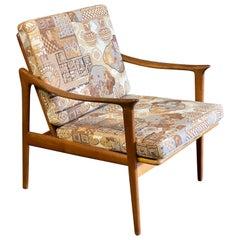 Frederik A. Kayser for Vatne Mobler Teak Lounge Chair