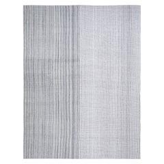 Mid-Century Modern Style Minimalist Flatweave Rug