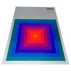 1971, Verner Panton Original Advert Poster Opart Design