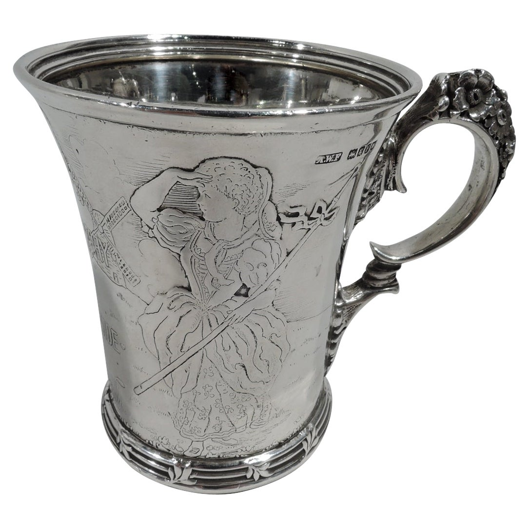 Antique Tiffany Sterling Silver Little Bo Beep Nursery Rhyme Baby Cup