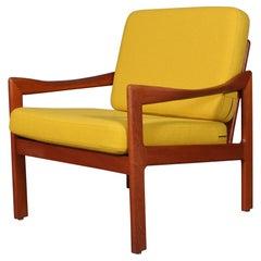 Illum Wikkelsø for N. Eilersen Lounge Chair, Model 20, in Solid Teak