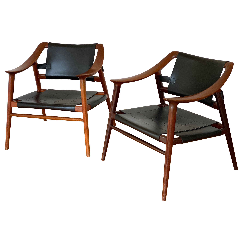 Mid-Century Modern Rastad & Relling Bambi Lounge Chair by Gustav Bahus