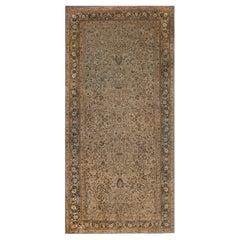 Antique Persian Meshad Botanic Wool Rug