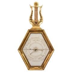 Charles X Giltwood Barometer