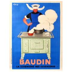 Original Vintage Poster Baudin La Cuisiniere Des Cuisinieres The Cooker Of Cooks