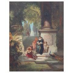 """Ernest Ochme '19th Century' """"Musician on a Terrace"""", Signed Ernest Ochme"""
