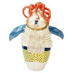 Octopus Fish Decorative Centerpiece, Handmade Italy, 2020, Hand-Crafted