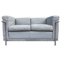 Le Corbusier LC 2 Two Seat Sofa Cassina