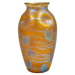 Austrian Jugendstil Glass Vase Orange circa 1902 Loetz