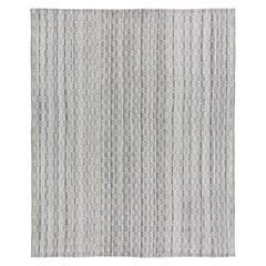 Mid-Century Modern Style Minimalist Charmo Pattern Flatweave Rug