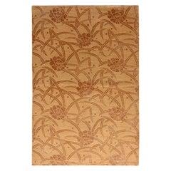Rug & Kilim's European-Style Rug Beige Brown Floral Pattern