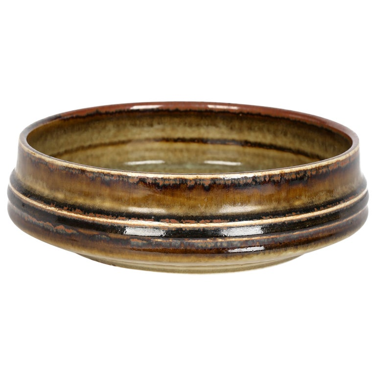 Olle Alberius for Rorstrand Mid-Century Studio Pottery Bowl For Sale