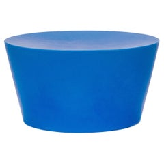 Blue Indoor/Outdoor Side Table Or Seat, Knoll