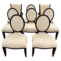Barbara Barry for Baker Furniture Set of Eight Matching Dining Room Chairs Set