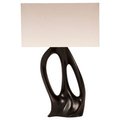 Amorph Ana Table Lamp in Black Lacquer and Ivory Silk Shade