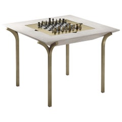 Shagreen Game Table with Bronze-Patina Brass Accents R&Y Augousti