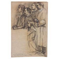 Maurice Denis Drawing Black & White Chalk/Paper