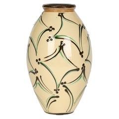 Herman August Kahler Danish Art Nouveau Large Art Pottery Vase