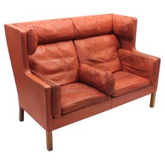 Børge Mogensen, Coupe Leather Sofa 2192, for Frederica, 1980s
