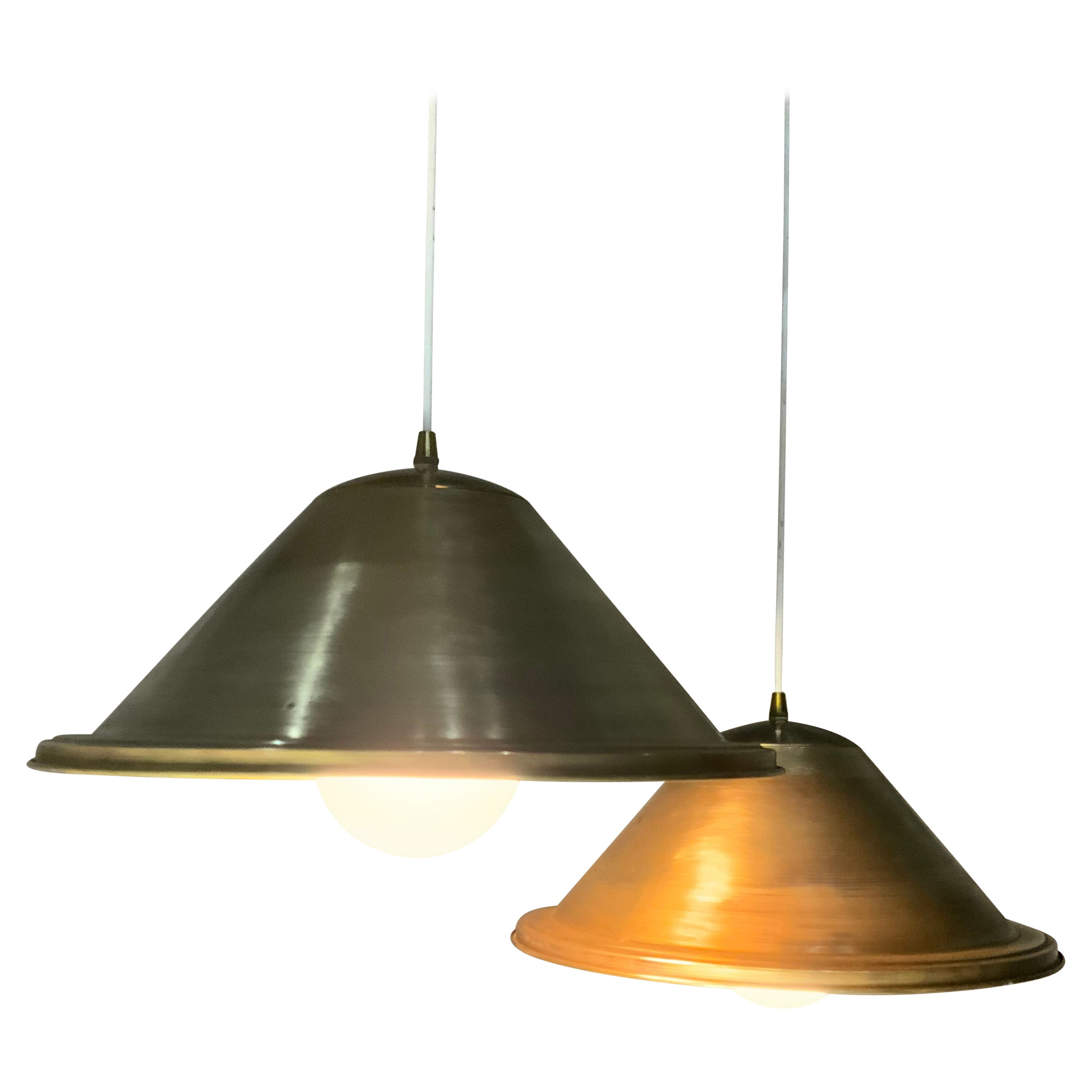 1970 Brass Pendant Lights