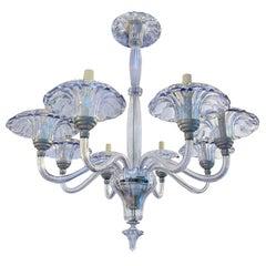 Pale Blue Murano Chandelier