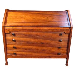 Vintage Modern Rosewood Dresser with Desk Top
