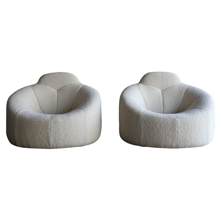 Pierre Paulin for Ligne Roset Pumpkin lounge chairs, ca. 2008, offered by Archive 20th Century