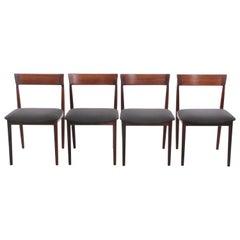 Mid-Century Modern Scandinavian Set of 4 Chairs in Teak, Harry Rosengren Hansen