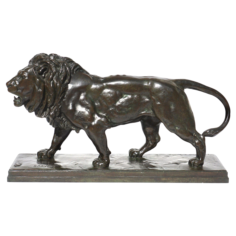 Antoine Louis Barye Bronze Striding Lion