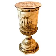 1960s Carved Giltwood Urn Form Florentine Side Table