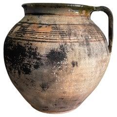 Antique Wabi Sabi Clay Pot