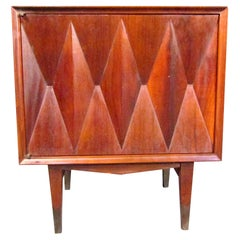 Mid-Century Modern Sculpted Front Nightstand Attributed to Albert Parvin