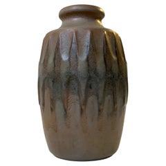 Scandinavian Pottery Vase with Camou Glaze by Günther Praschak for Knabstrup