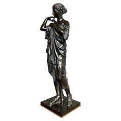 Antique Bronze Diana of Gabii Sculpture Made & Marked F. Barbedienne & L. Collas