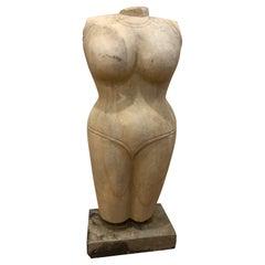Marble Woman/Female Torso Figure Statue