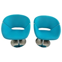 """A Pair of """"Lipse Too"""" Lounge Swivel Chairs"""