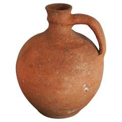Antique Terracotta Wabi, Sabi Clay Vessel, c. 19th Century
