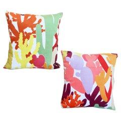Missoni Custom Pink, Orange, Red Terry Cactus Pillow Pair, MissoniHome, Italy