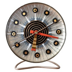 Midcentury Higgins Glass Clock for General Electric