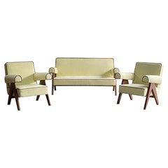 Pierre Jeanneret PJ-010806 'Easy Lounge' Sofa & Armchairs Chandigarh C 1958-59